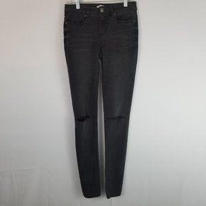 Bongo Knee Rip Style Faded Black Skinny Jeans